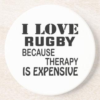 Porta-copos Eu amo o rugby porque a terapia é cara