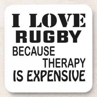 Porta Copos Eu amo o rugby porque a terapia é cara