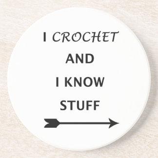 Porta-copos Eu Crochet e eu sei o material