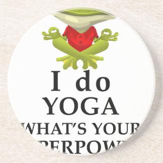 Porta-copos eu faço a ioga que s seu poder super