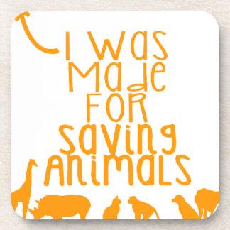 Porta-copos Eu fui feito para animais de salvamento