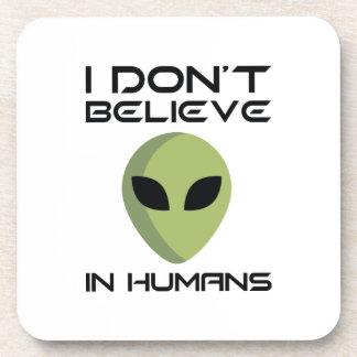 Porta-copos Eu não acredito nos seres humanos