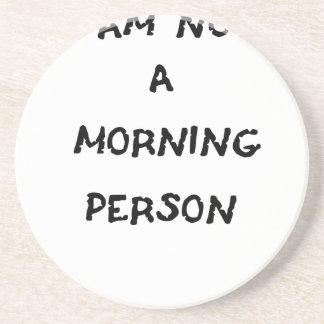 Porta-copos eu não sou uma pessoa da manhã