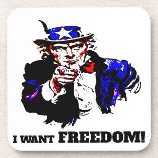 Porta Copos Eu querido a liberdade!