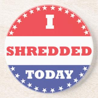 Porta-copos Eu Shredded hoje