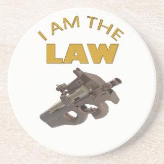 Porta-copos Eu sou a lei com uma metralhadora m4a1
