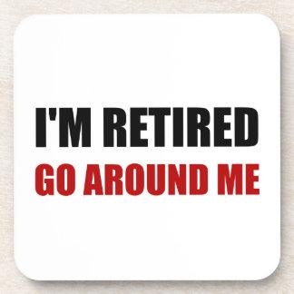 Porta-copos Eu sou aposentado circundo-me engraçado