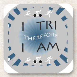 Porta-copos Eu tri conseqüentemente mim sou Triathlon