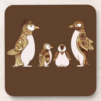Porta Copos Família dos pinguins