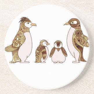 Porta-copos Família dos pinguins