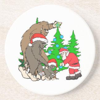 Porta-copos Família e papai noel de Bigfoot
