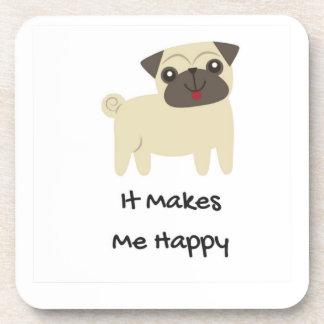 Porta-copos Faz-me o Pug feliz