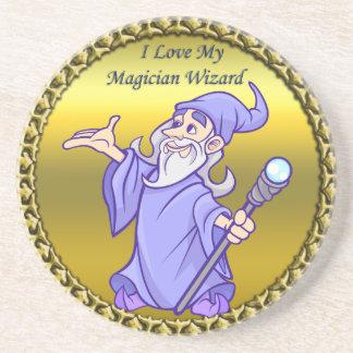 Porta-copos Feiticeiro mágico do roxo do sorceress do mágico