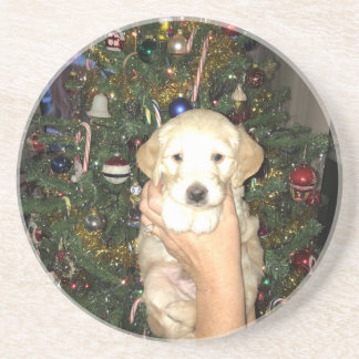 Porta-copos Filhote de cachorro de GoldenDoodle com árvore de