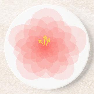 Porta-copos Flor cor-de-rosa da aguarela