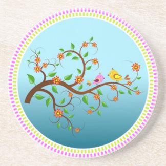 Porta copos floral bonita do arenito das videiras
