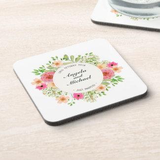 Porta copos floral do casamento   do recem casados