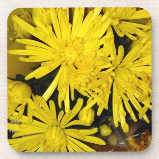 Porta-copos Flores amarelas do crisântemo