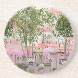 Porta-copos Flores e bambus de Lotus - 3D rendem