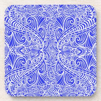 Porta Copos Fluxo elegante dos azuis marinhos