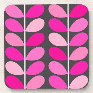 Porta Copos Folhas dinamarquesas do meio século, cor-de-rosa