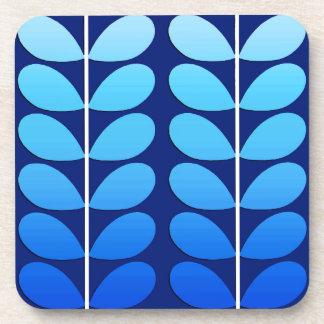 Porta Copos Folhas, marinho e azuis cobaltos dinamarqueses do