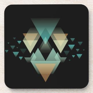 Porta Copos Formulários geométricos Pastel no preto