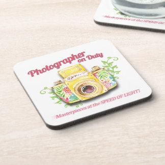 Porta Copos Fotógrafo no design da câmera do vintage do dever