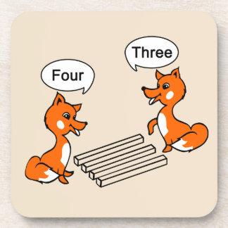 Porta-copos Fox do truque da ilusão óptica