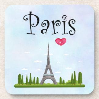 Porta Copos Francês Paris com torre Eiffel