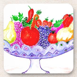 Porta Copos Fruta na arte do vaso