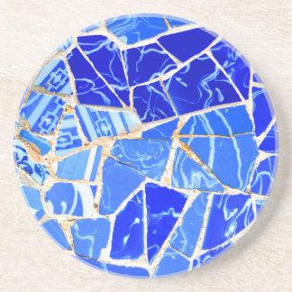 Porta-copos Fundo azul abstrato