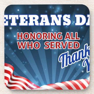 Porta-copos Fundo da bandeira americana de dia de veteranos
