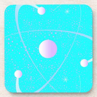 Porta Copos Fundo da estrutura da massa atômica