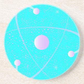 Porta-copos Fundo da estrutura da massa atômica