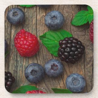 Porta-copos fundo da fruta de baga