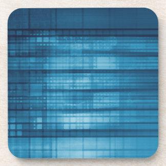 Porta Copos Fundo do mosaico da tecnologia como uma arte do