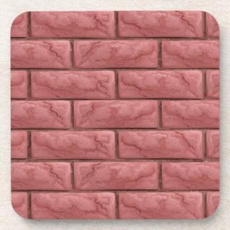 Porta-copos Fundo sem emenda da textura da parede de tijolo