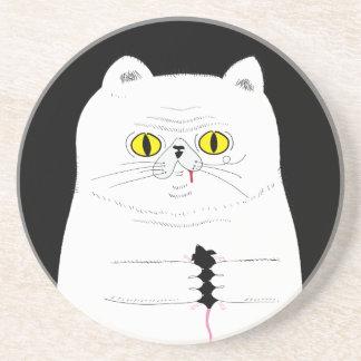 Porta-copos Gato com o desenho engraçado do rato