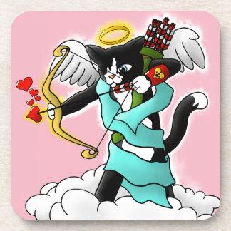 Porta-copos Gato do Cupido do smoking do dia dos namorados
