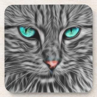 Porta Copos Gato Eyed azul do Fractal