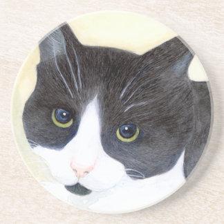 Porta-copos Gato preto e branco