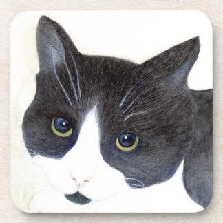Porta Copos Gato preto e branco