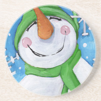 Porta-copos Gelado o boneco de neve feliz