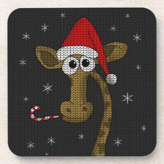 Porta-copos Girafa do Natal