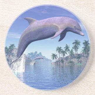Porta-copos Golfinho nos trópicos - 3D rendem