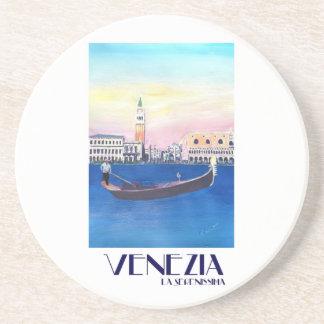Porta-copos Gôndola de Veneza Italia no canal grande com San