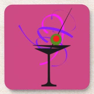 Porta-copos Grupo de 6 portas copos de vidro do rosa quente de