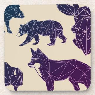 Porta Copos Grupo geométrico dos animais | da floresta de 6