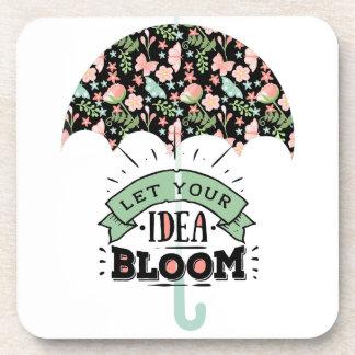 Porta-copos Guarda-chuva da flor da ideia